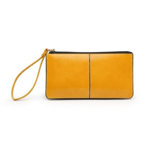 BABS DOUBLE POCKET PURSE MUSTARD